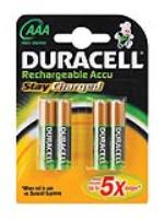 DURACEL RECHARGEABLE AAA BATTERY  ( 4 per pack )