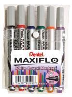 Pentel MAXIFLO WHITEBOARD  Markers  Wallet of 6