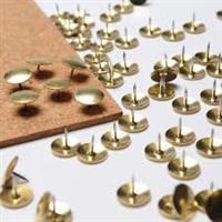 Thumb Tacks Drawing Pins  Silver ( 100 per box )