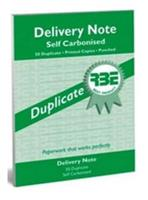 RBE Delivery Books  Duplicate ref#0119