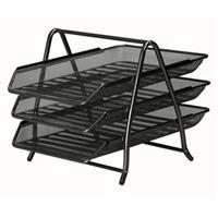 Mesh Letter Trays  Black or Silver