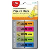 Pop Up Flags ( 45 x 12mm )  Sign Here ( 5 Assorted per pack )