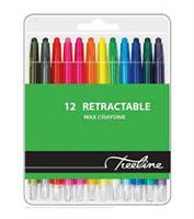 Wax Crayons Retractable ( wallet of 12 )