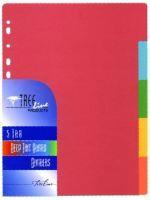A4 Board Divider Rainbow 5 Cut
