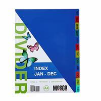 A4 Pvc Divider Rainbow ( Jan to Dec )