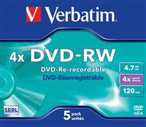 Verbatim DVD-RW  ( 5 per box ) Printable Surface