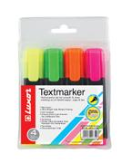 Luxor Highlighters - Wallet of 4