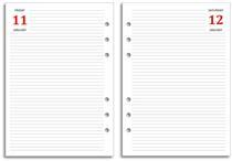FiloFax Diary Refill - Page A Day - 2017