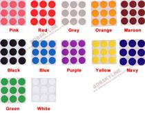 13mm Round Colour Code Labels  ( 400 aprox per box )