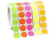 19mm Round Colour Code Labels ( 250 aprox per box )